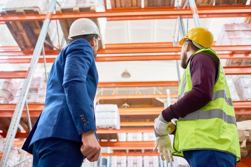 ispezione scaffalature industriali